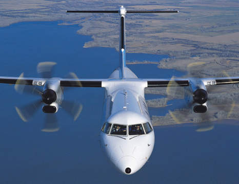 The Q400 was developed to provide a larger aircraft for high-density, short-haul routes.