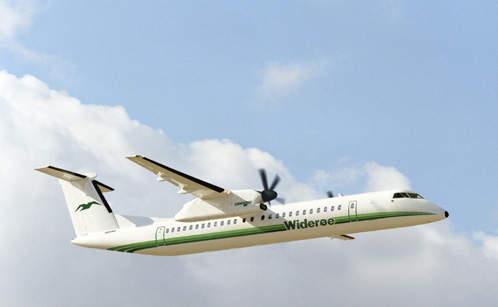 Q400 in the fleet of Norway's Wideroe Airline.