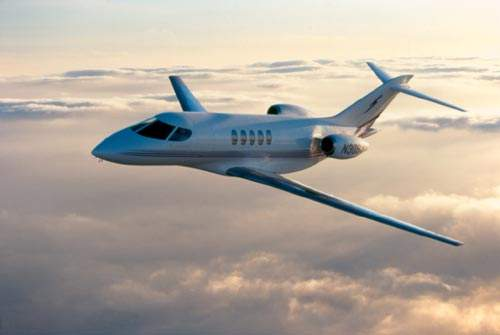 The SJ30-2 intercontinental light business jet.