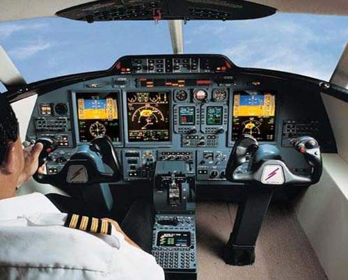 The flight deck is equipped with Honeywell Primus Epic avionics.