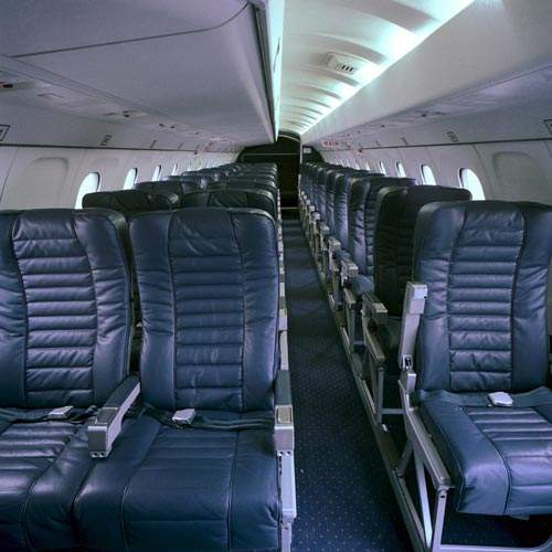 The interior of the Saab 340B.