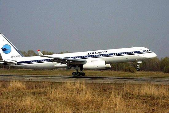 The Tu-214 entered service in May 2001 with the Dalavia Airline of Khabarovsk.