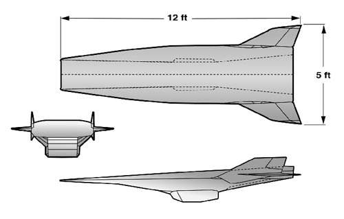 Layout diagram of X-43 Hypersonic vehicle.
