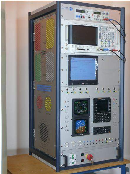 An avionic training simulator