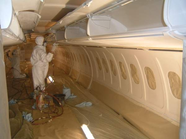 aircraft interior refinishing