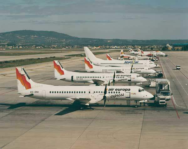 ATPs in Air Europa's fleet on the ground.