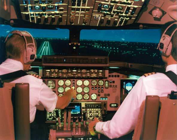 The ATP cockpit with fully digital flight deck.