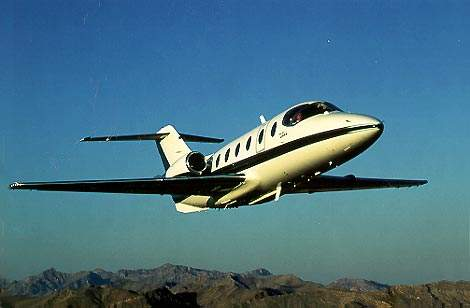 The Hawker Beechcraft Beechjet 400A light business jet was renamed the Hawker 400XP in May 2003 and has been upgraded with an increase in gross weight of 90kg.