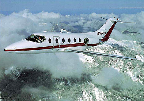 The 400XP business jet can accommodate up to eight passengers.