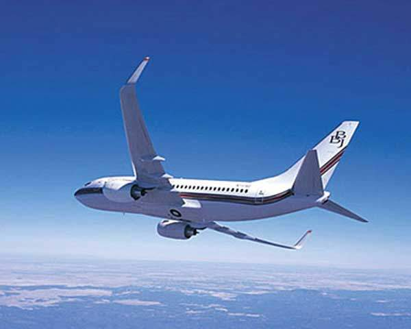 The Boeing long range business jet, the BBJ.