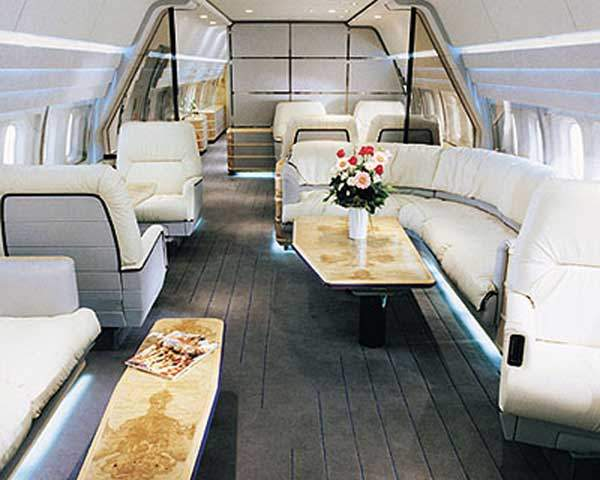 The Boeing Business Jet's spacious cabin can be customised to meet individual or business requirements.