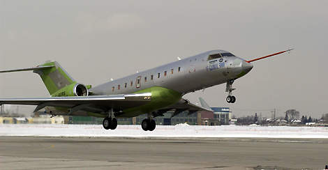 The first Bombardier Global 5000 business jet (serial number 9127) successfully completed its first flight on 7 March 2003.