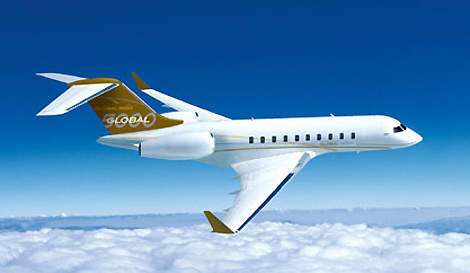 The Global 5000 is capable of flying non-stop from continental Europe to central North America at Mach 0.85 with eight passengers.