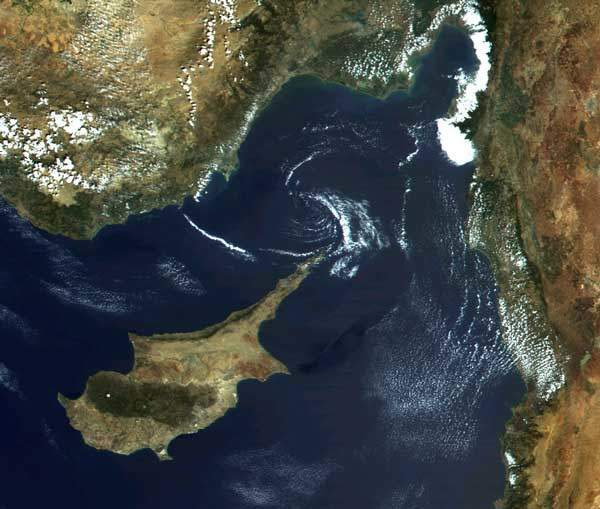 Resurs O1 satellite view of Cyprus.