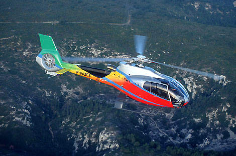 Eurocopter's Fenestron shrouded tail rotor substantially reduces the helicopter's noise levels.