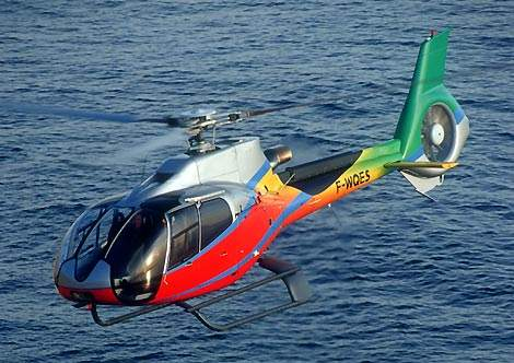 The EC 130 features a larger canopy with increased cabin visibility.