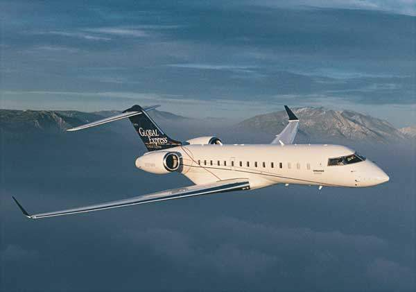 The Bombardier Global Express ultra long-range, high-speed business jet.