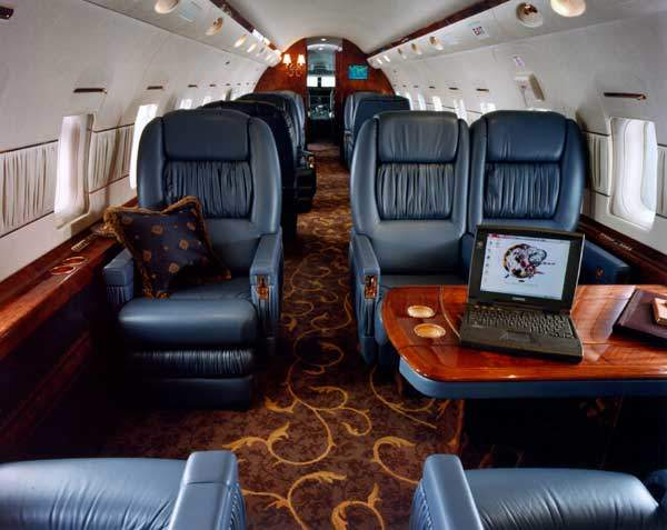 The first Bombardier Global Express featuring a customised interior made its first appearance at the National Business Aviation Association (NBAA), in Dallas. The interior was completed at the de Havilland facility in Toronto.