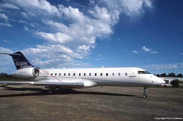 A Global Express business jet landed at Plettenberg Bay, South Africa, landing in less than 3,000ft after taking off from the airfield in under 2,000ft from a standing start.