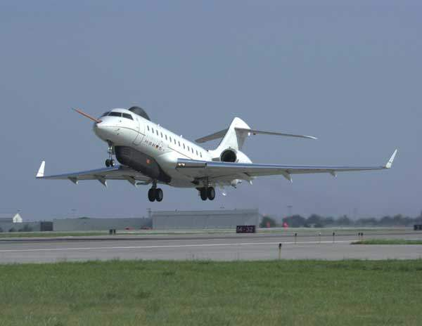 The first flight of a Global Express jet configured as an ASTOR platform took place in August 2001.