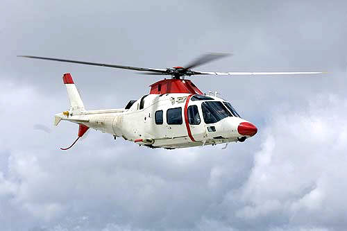AgustaWestland's new light twin turbine helicopter, the Grand, was unveiled at the Farnborough Air Show in July 2004.