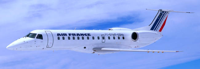 The Embraer ERJ-135 regional airliner, in service with Air France.