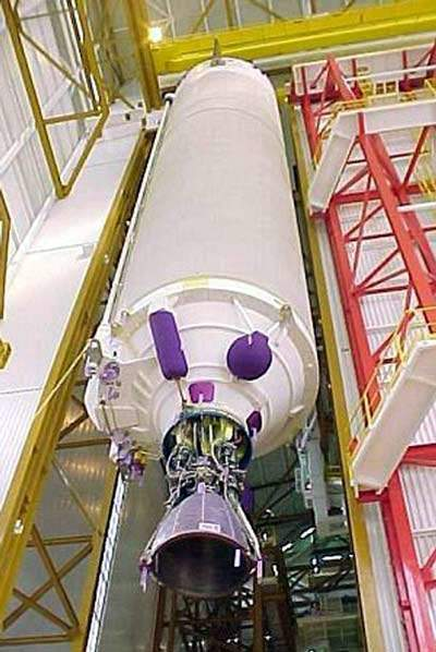 The main cryogenic stage carries most of the electrical and guidance systems.
