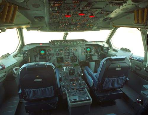 The advanced digital flight deck of the A310.