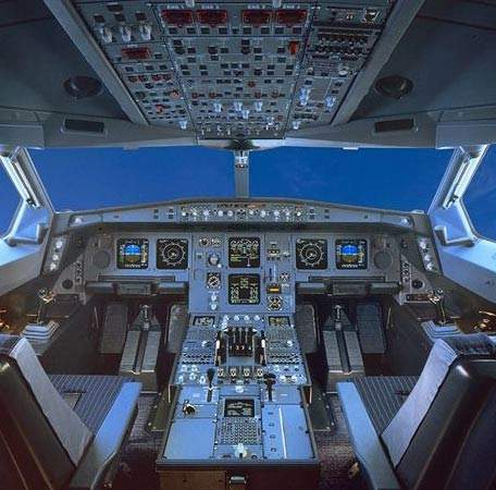 The advanced flight deck incorporates an optimised layout of liquid crystal displays.