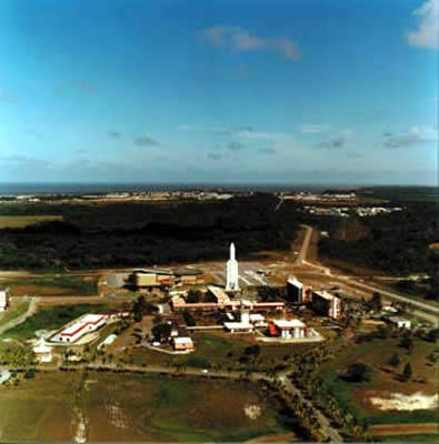 The Artemis satellite was launched from the European Space Agency (ESA) base at Kourou on 12 July 2001.