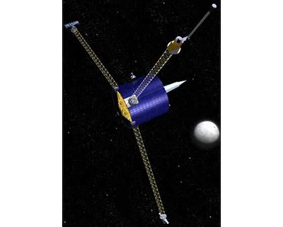 The NASA Lunar Prospector craft.