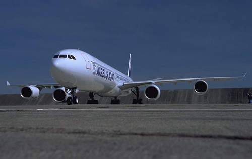The A340-600 is a super-stretched version of the A340.