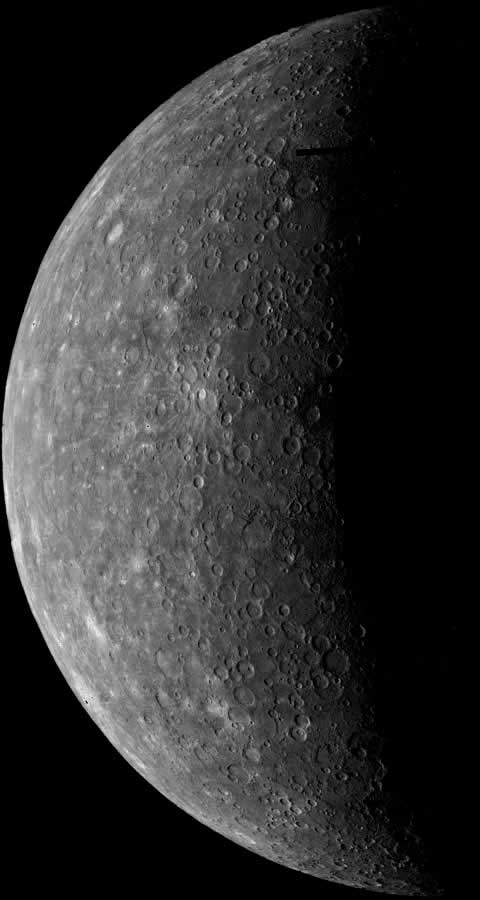 Mercury has not been visited since the Mariner 10 collected this image in the early 1970s.