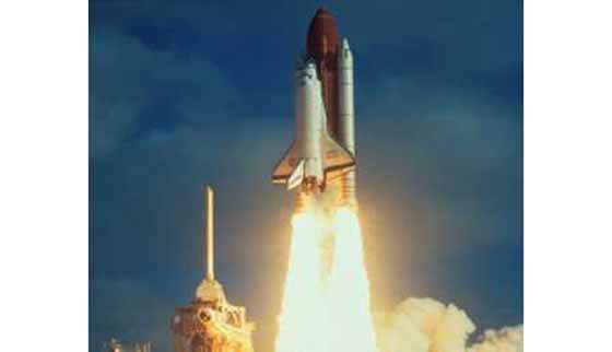 Launching Hubble via the space shuttle.
