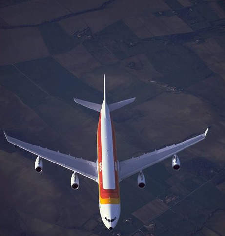 Iberian Airlines A340-300. The aircraft are equipped with four CFM56-5C4 engines.