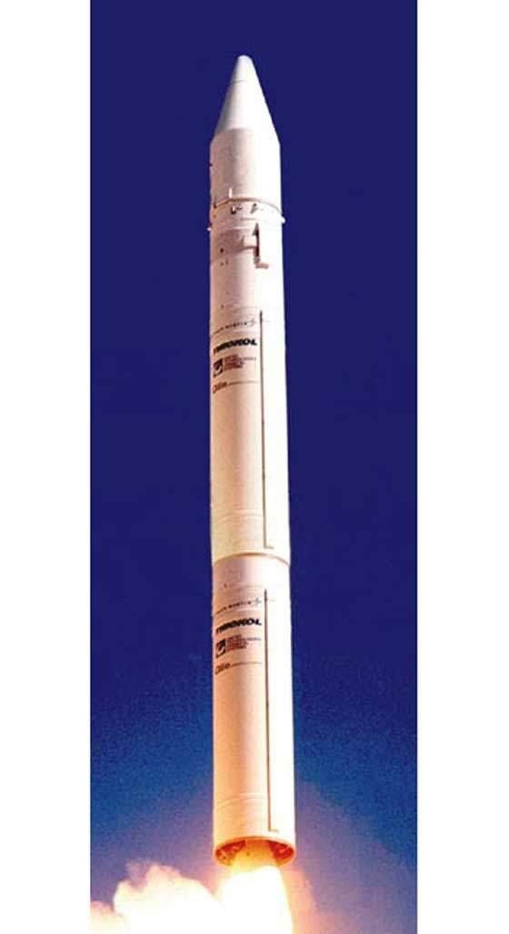 The Athena II launch vehicle.
