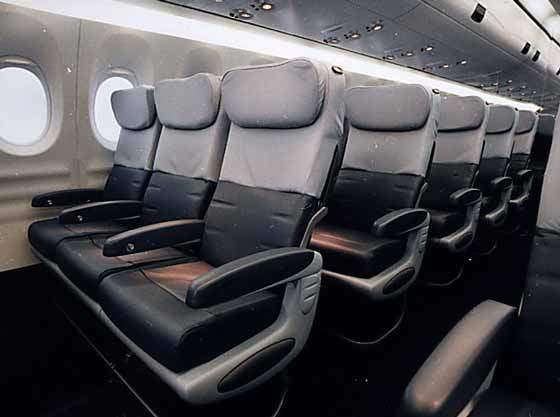 Interior of Fairchild Dornier 728, designed for both passenger and corporate use.