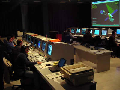 The operation control centre is in Fucino, Italy.