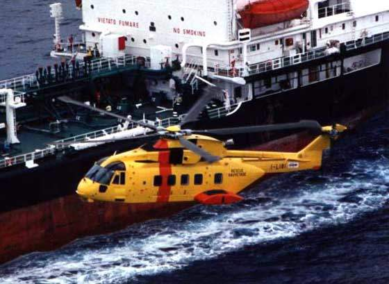 The AW101 search and rescue model.