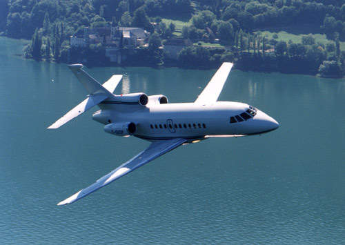 With three engines, the Falcon 900C is capable of extended flights over water.