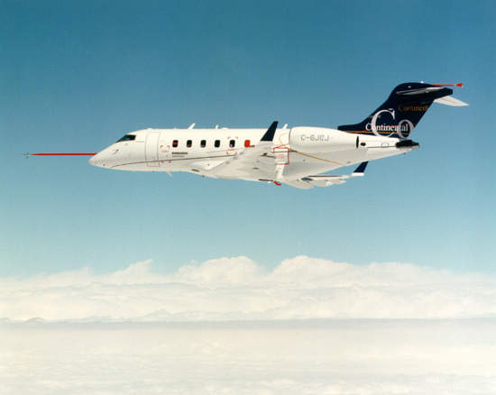 The aircraft can carry up to eight passengers coast-to-coast across America.