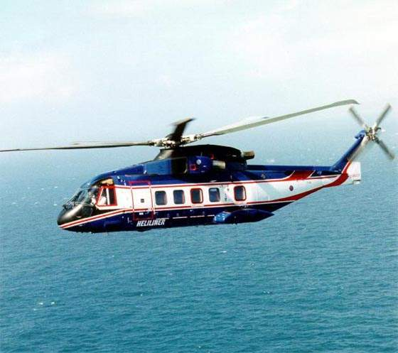 The AW101 Heliliner passenger carrying model has a capacity of 30 seats.