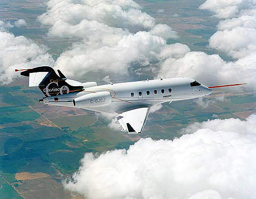 Bombadier's comprehensive flight test programme involved five aircraft.