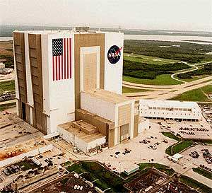 Vehicle assembly building at the KSC.