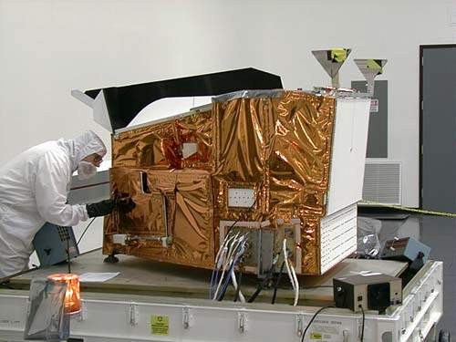 Modis instrument in laboratory.