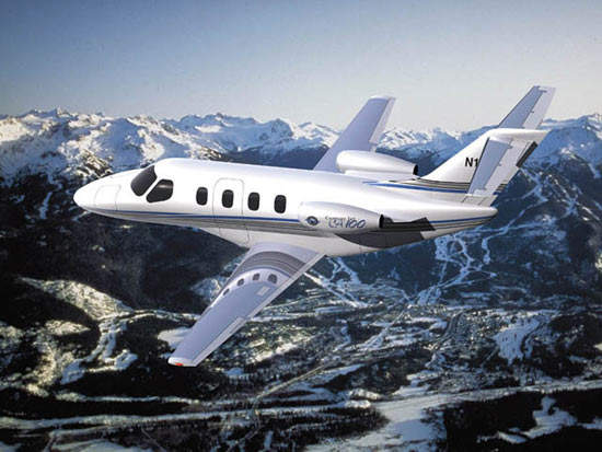 The new Century Jet 100 will be powered by twin Williams International FJ33-1 engines.