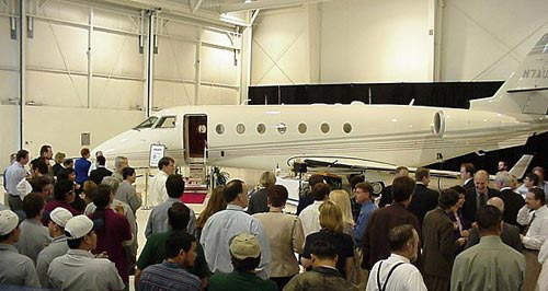 The first Galaxy, now renamed the G200, business jet was delivered in January 2000.