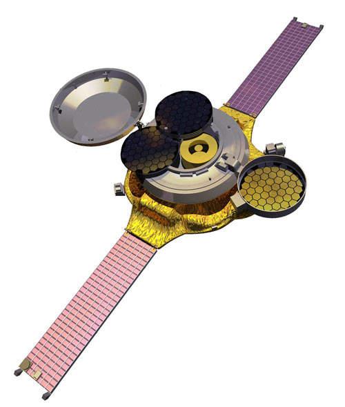 Genesis spacecraft as it orbits.