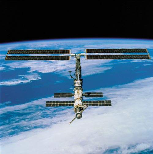 Lockheed Martin Missiles and Space Station Solar Arrays installed and deployed on orbit.