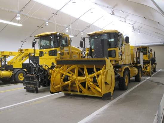 snow-removal equipment storage
